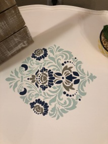 Stencil on Accent Table